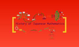 History of Japanese Mathematics