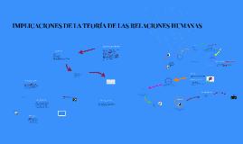 Copy of IMPLICACIONES DE LA TEORIA DE LAS RELACIONES HUMANAS