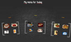 My menu for today