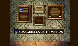 CASA ABIERTA, SIN FRONTERAS
