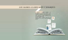 Copy of LOS VALORES: CLASIFICACIÓN Y JERARQUÍA