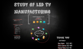 STUDY OF LED TV MANUFACTURING