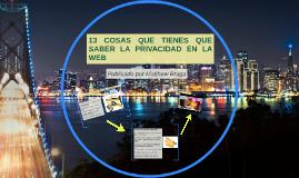 13 cosas que tienes que saber sobre la privacidad en la Web