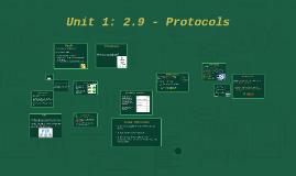 Unit 1: 2.9 - Protocols
