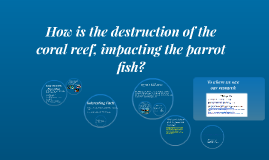 How is the destruction of the coral reef, impacting the parr