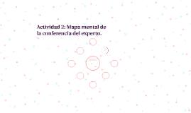 Actividad 2: Mapa mental de la conferencia del experto.