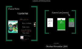 CANON LAW PUBLICATIONS
