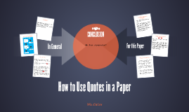 How to Use Quotes in a Paper