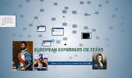 European Explorers of Texas
