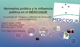 Copy of Copy of Copy of Normativa jurídica y la influencia política en el MERCOSUR