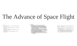 Copy of The Advance of Space Flight