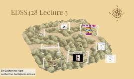 EDSS468 Lecture 3