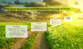 Formative Assessment and Differentiated Planning