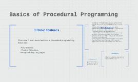 Copy of Basics of Procedural Programming
