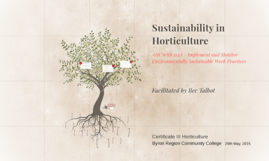 Sustainability in Horticulture