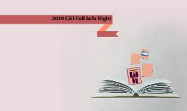 2019 CKI Fall Info Night