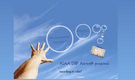 AIAA DBF Design proposal
