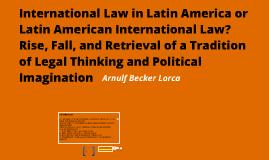 International law in Latin America