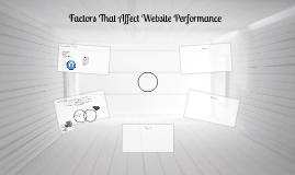 Factors That Affect Website Performance