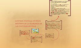 CONTROL VERTICAL DE PISOS MÁXIMOS DE LA ECONOMÍA DE LAS CULT