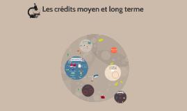 Les crédits moyen et long terme