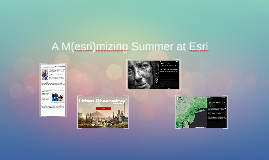 A M(esri)mizing Summer