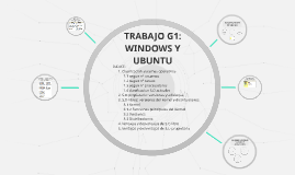 TRABAJO G1: WINDOWS Y UBUNTU