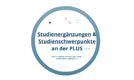 Studienergänzungen & Studienschwerpunkte an der Uni Salzburg