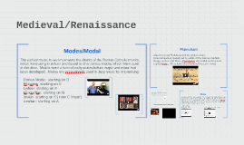 Copy of Medieval/Renaissance