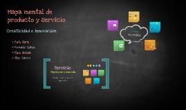 Copy of Mapa mental de producto y servicio