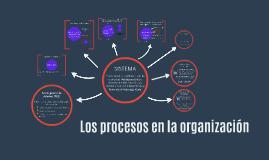 Los procesos en la organización