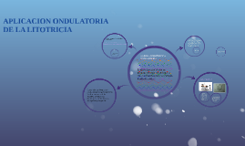 Copy of APLICACION ONDULATORIA DE LA LITOTRICIA