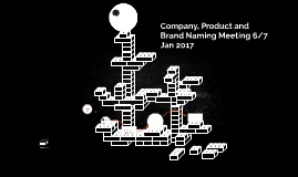 Company, Product and Brand Naming Meeting 6/7 Jan 2017