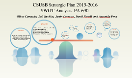 """a high-level """"notional"""" SWOT analysis of CSUSB"""