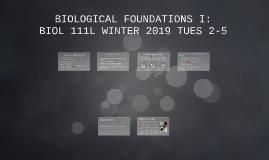 BIOLOGICAL FOUNDATIONS I: