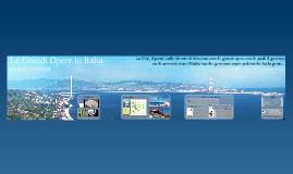 Le Grandi Opere in Italia