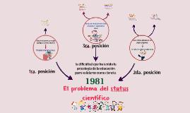 El problema del status científico