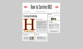 How to Survive HHS