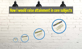 How I would raise attainment in core subjects
