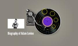 Biography of Adam Levine