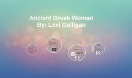 Ancient Greek Woman's Appearance