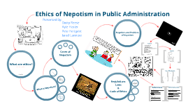 Nepotism in Public Administration