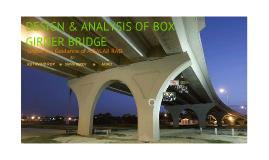DESIGN & ANALYSIS OF BOX GIRDER BRIDGE