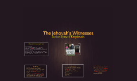 Jehovah's Witnesses In the Eyes of Duplessis