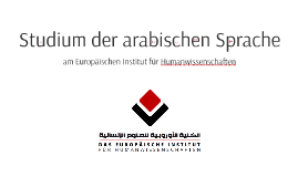 Studium der arabischen Sprache