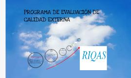 Programa de evaluación externa de calidad