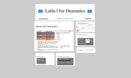 Latin l for Dummies