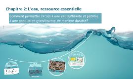 Chapitre 2: L'eau, ressource essentielle