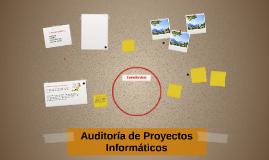 Auditoría de Proyectos Informáticos