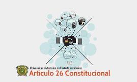 Artículo 26 Constitucional